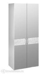 Шкаф Амели с 2 стекляными дверями для одежды
