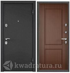 Дверь входная стальная Торэкс X5 Темно-серый букле графит/С6-1 Орех коньяк