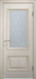 Межкомнатная дверь Двери и К 65 Эрика ДО дуб беж золотая патина