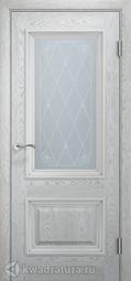 Межкомнатная дверь Двери и К 65 Эрика ДО дуб молочный патина серебро
