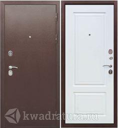 Входная дверь Феррони Толстяк 10 Медный антик/Белый ясень