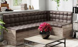 Форест Скамья-диван угловая со спальным местом коричневый