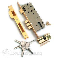Механизм под ключ 3 ригеля Archi латунь