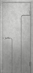 Межкомнатная дверь Двери и К 35 Бетон светлый Дизайн Италия