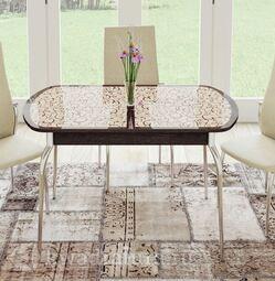 Стол обеденный Сидней Венге/стекло с рисунком СМ-219.01.01