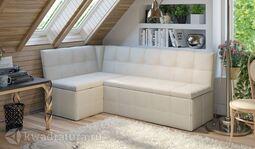 Кухонный уголок Домино Скамья-диван угловая со спальным местом Крем