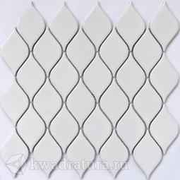 Мозаика керамогранитная Bonaparte Melany white glossy 26,4х28
