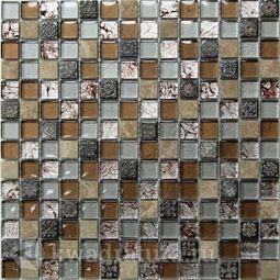 Мозаика стеклянная c камнем Bonaparte Fantasy 30,6х30,6