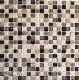 Мозаика стеклянная c камнем Bonaparte Amelia 30х30