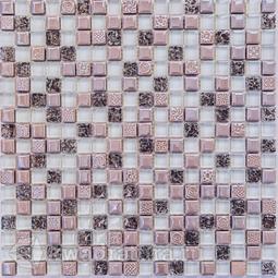 Мозаика стеклянная c камнем Bonaparte Plaza 30х30