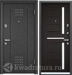Дверь входная стальная Торэкс Super Омега 8 Черный шелк RP1/ПВХ венге RS-2