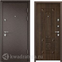 Дверь входная стальная Торэкс Ultimatum Медь/КТ Орех грецкий КВ-9