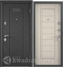 DELTA-M 10  Черный шелк DL-1/ПВХ БЕЛ перламутр СК65-S (950х2050 левая)