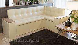Кухонный уголок Остин Скамья-диван угловая со спальным местом светлый