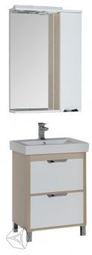 Набор мебели для ванной Aquanet Гретта 60 белый/светлый дуб