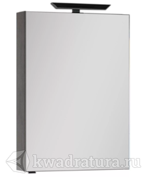 Зеркало-шкаф Aquanet Эвора 60 дуб антик
